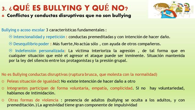 qué es bullying y qué no